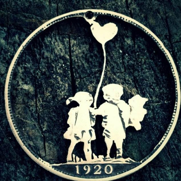 Красивые кулоны из старых монет (2)