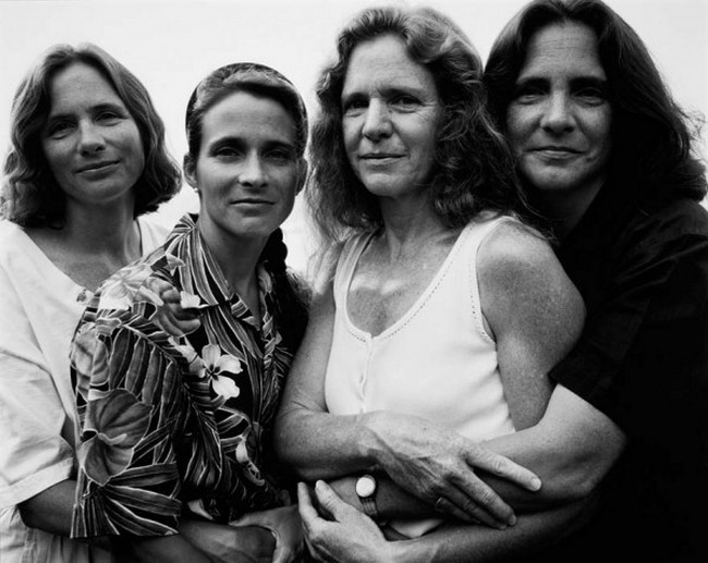 каждый год по фото, как стареют люди, четыре сестры (21)