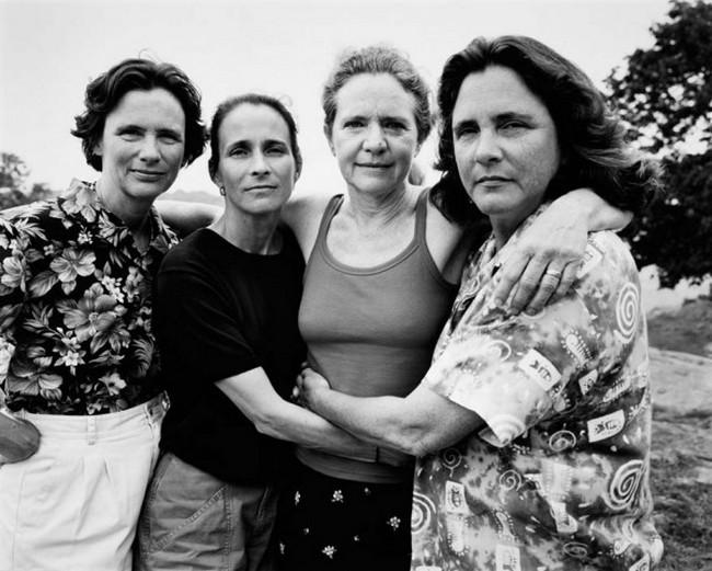 каждый год по фото, как стареют люди, четыре сестры (28)