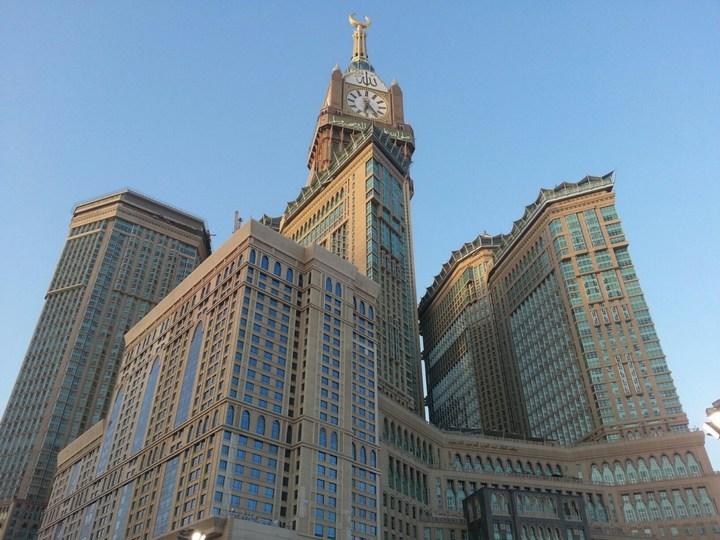 """Огромная башня с часами в Саудовской Аравии — """"Makkah Clock Royal Tower"""", мега стройка (29)"""