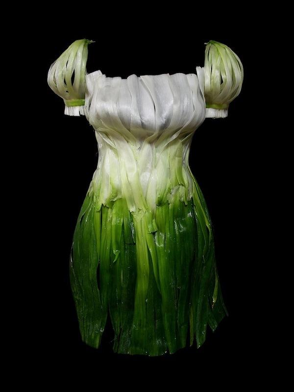 Платья из еды, необычные платья (2)