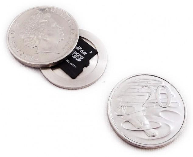 Шпионские монеты, необычные разборные монеты с пространством внутри (1)