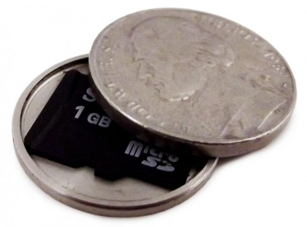 Шпионские монеты, необычные разборные монеты с пространством внутри (4)