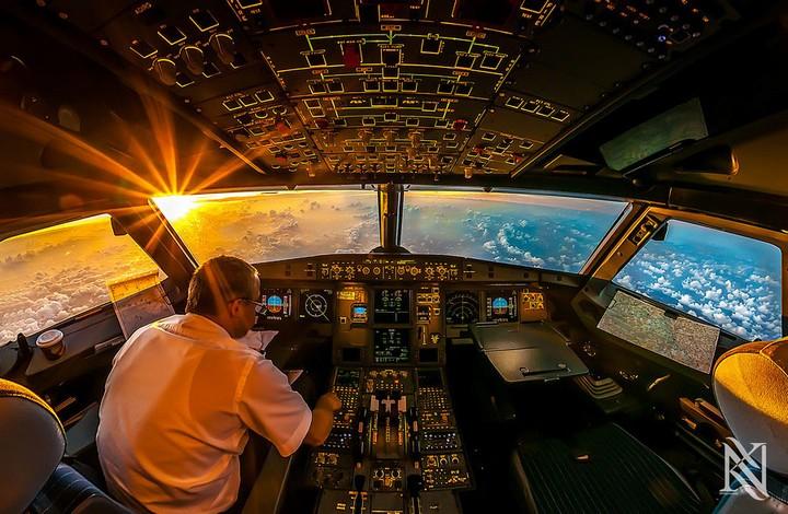 Фотографии из кабины пилота самолета (1)
