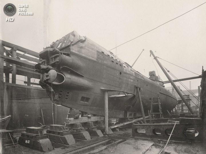 Немецкая подлодка SM UB-110, устройство, вид изнутри (3)