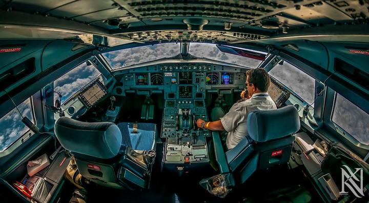 Фотографии из кабины пилота самолета (2)