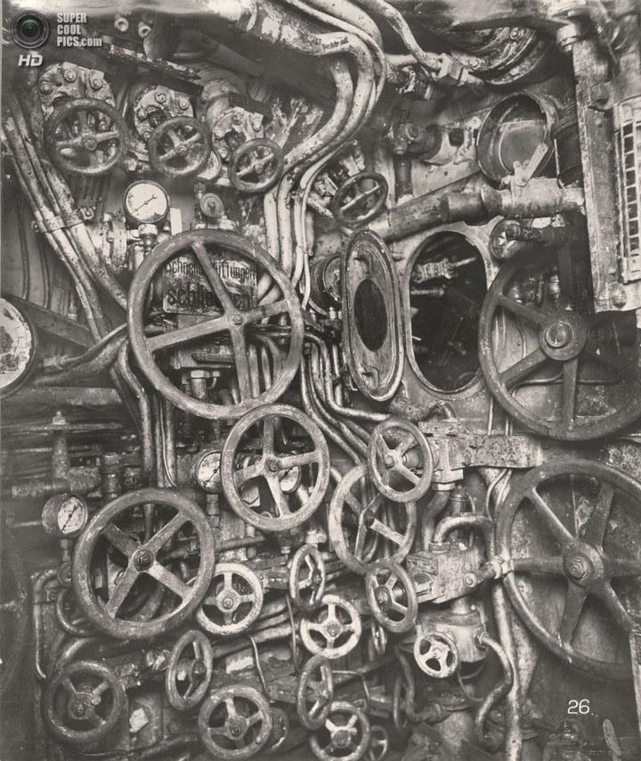 Немецкая подлодка SM UB-110, устройство, вид изнутри (6)
