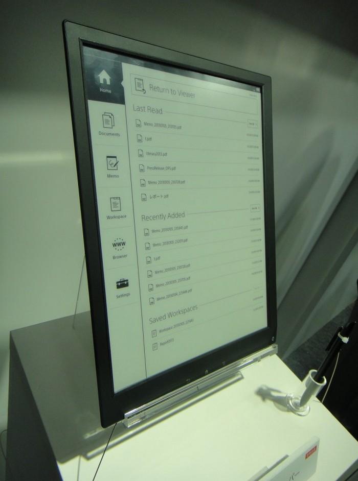 Электронная тетрадь SONY с экраном формата A4 1200 x 1600 пикселей (5)