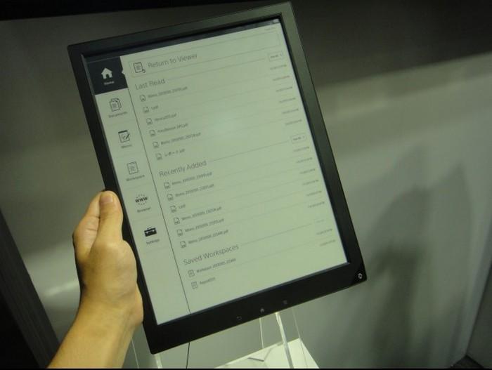Электронная тетрадь SONY с экраном формата A4 1200 x 1600 пикселей (4)