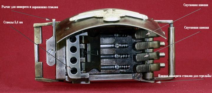 Пряжка-пистолет нацистских офицеров СС (13)