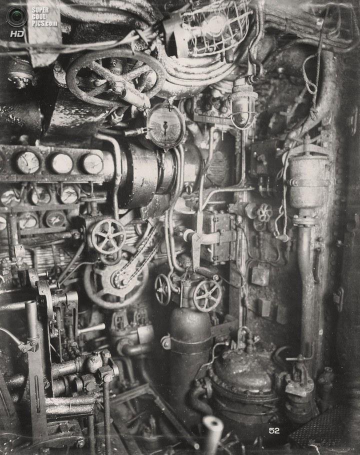 Немецкая подлодка SM UB-110, устройство, вид изнутри (21)