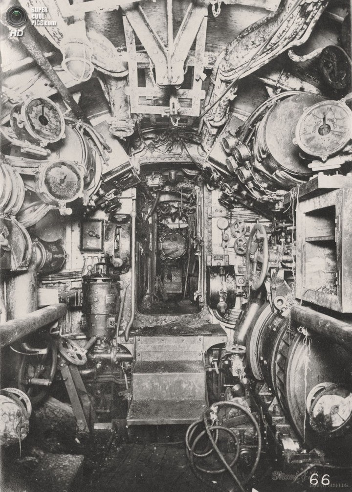 Немецкая подлодка SM UB-110, устройство, вид изнутри (24)