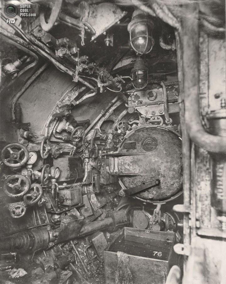 Немецкая подлодка SM UB-110, устройство, вид изнутри (25)