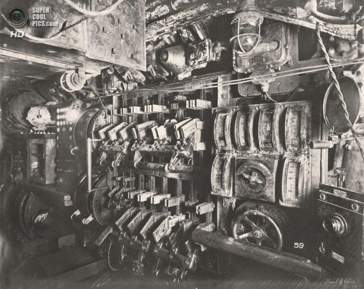 Немецкая подлодка SM UB-110, устройство, вид изнутри (26)