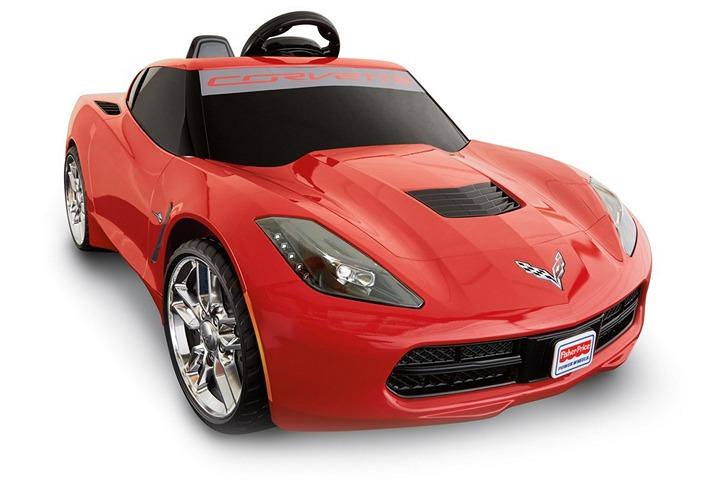 Детский автомобиль на аккумуляторах, точная копия Шевроле Корветт (3)