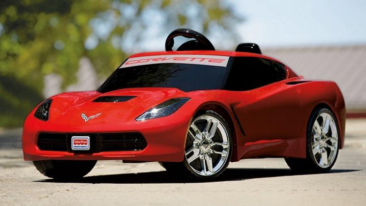 Детский автомобиль на аккумуляторах, точная копия Шевроле Корветт (1)