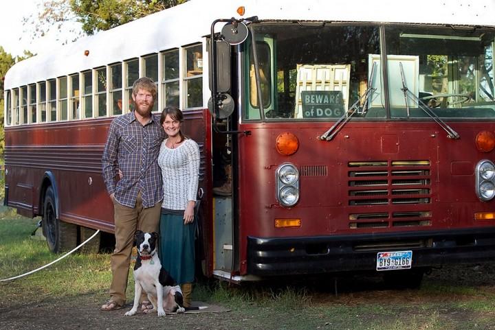 Автобус вместо дома, жизнь в автобусе (2)