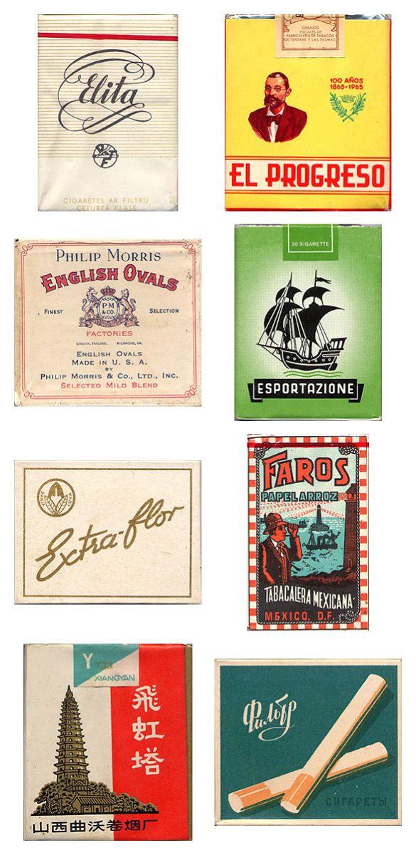 Сигаретные пачки из прошлого, Старые пачки сигарет, подборка фото, коллекция пачек из под сигарет (4)