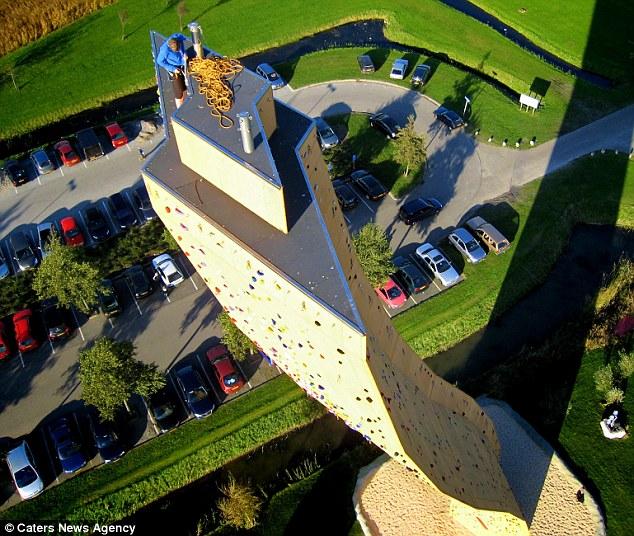 Скалодром Excalibur в Гронингене - самый высокий скалодром в мире (4)