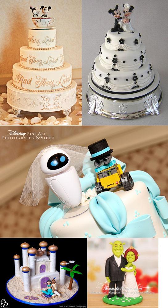 Самые необычные и красивые свадебные торты. Прикольные торты на свадьбу (4)
