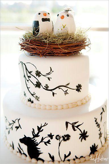 Самые необычные и красивые свадебные торты. Прикольные торты на свадьбу (7)