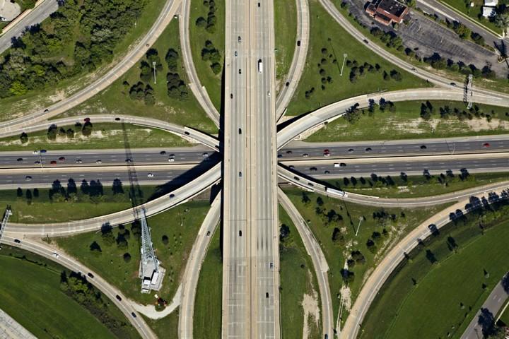 Фото сверху, сложные и запутанные автомобильные дорожные развязки (7)