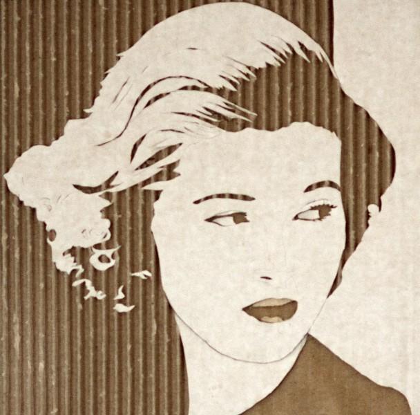 Портреты на гофрированном картоне необычные картины на гофротаре (7)