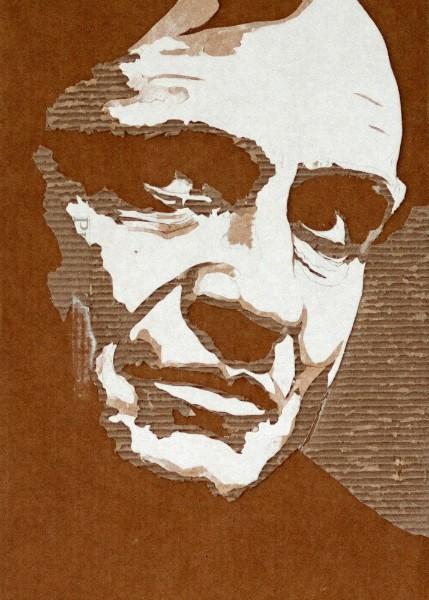 Портреты на гофрированном картоне необычные картины на гофротаре (3)