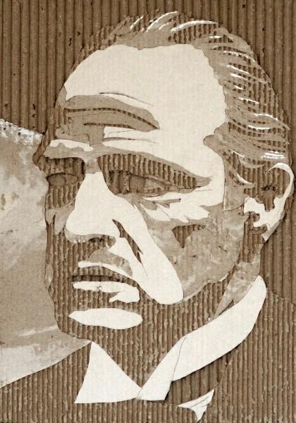 Портреты на гофрированном картоне необычные картины на гофротаре (2)