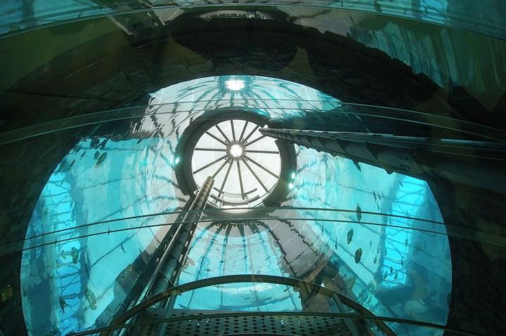 """Самый большой аквариум в отеле """"Radisson Blu"""", Германия (10)"""