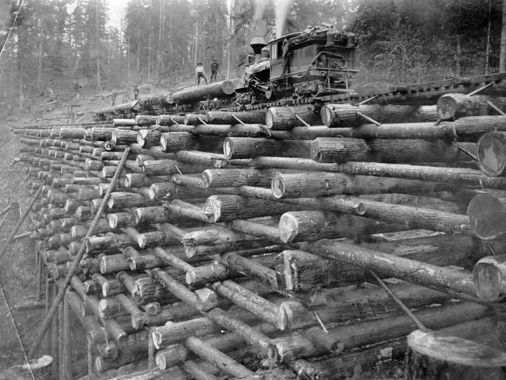 Как раньше строили железнодорожные мосты из бревен (дерева), деревянные мосты (2)