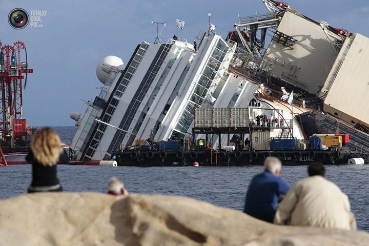 Операция по подъему лайнера Costa Concordia (30)