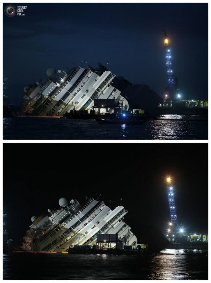 Операция по подъему лайнера Costa Concordia (40)