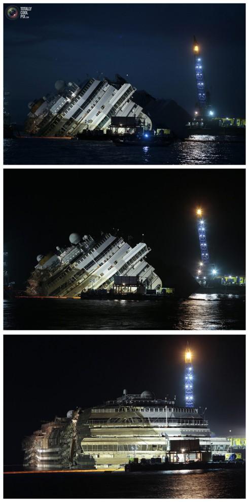 Операция по подъему лайнера Costa Concordia (42)
