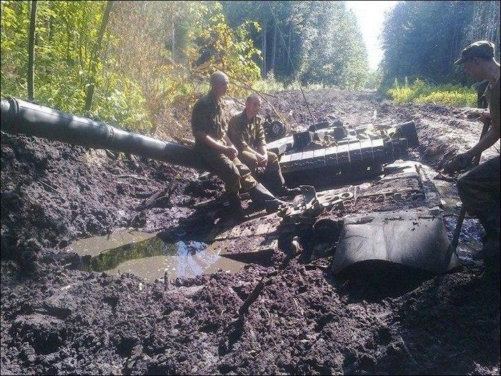 Как застревают танки. Застрявшие танки, фото и видео (5)