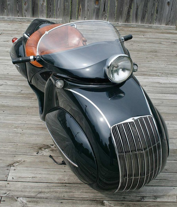 "Красивый винтажный мотоцикл ""Henderson 1930"", необычный дизайн ретро мотоцикла (3)"