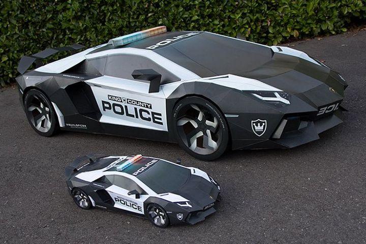 Как склеить модель автомобиля из бумаги в натуральную величину (1)
