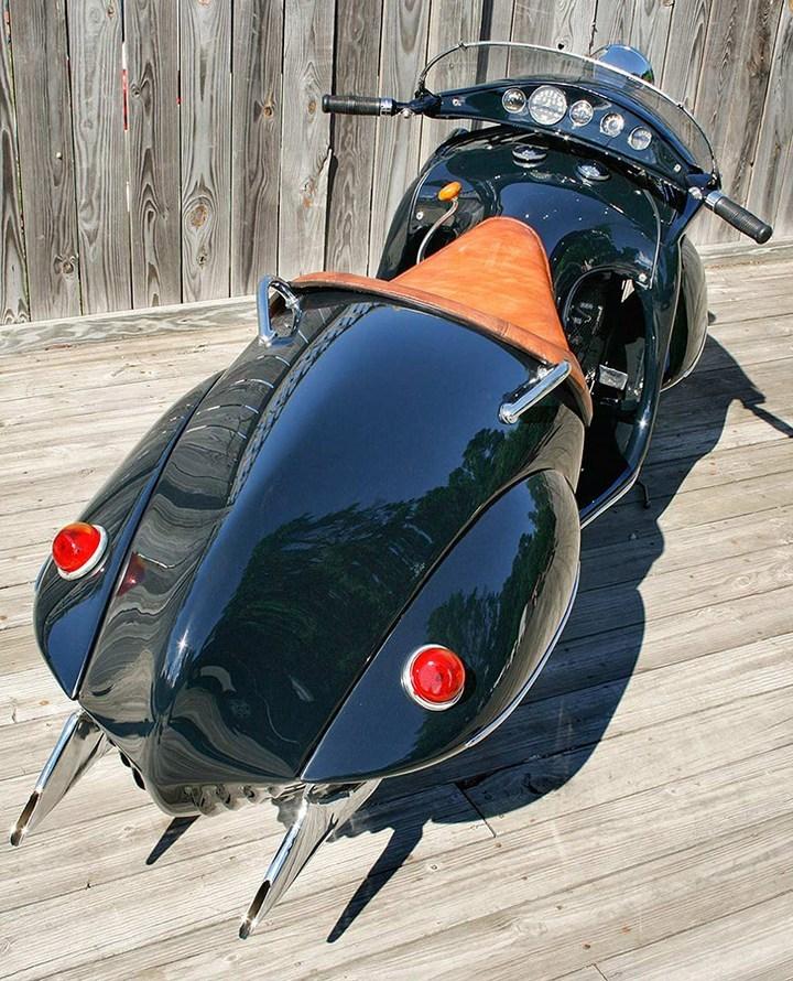 "Красивый винтажный мотоцикл ""Henderson 1930"", необычный дизайн ретро мотоцикла (5)"