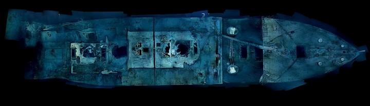 "Фотографии затонувшего ""Титаника"", фото на дне, до и после (3)"