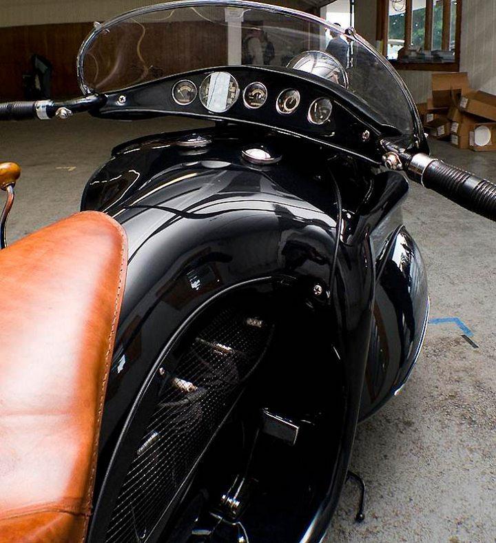 "Красивый винтажный мотоцикл ""Henderson 1930"", необычный дизайн ретро мотоцикла (6)"