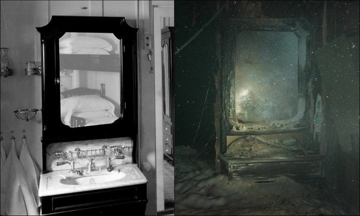 "Фотографии затонувшего ""Титаника"", фото на дне, до и после (5)"