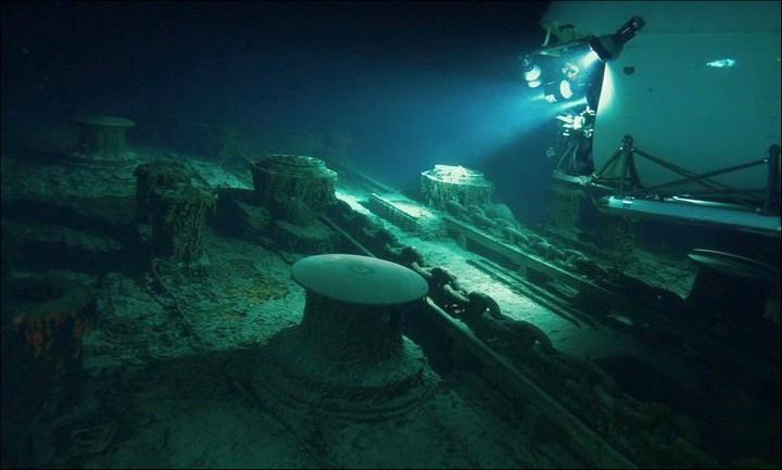 "Фотографии затонувшего ""Титаника"", фото на дне, до и после (6)"