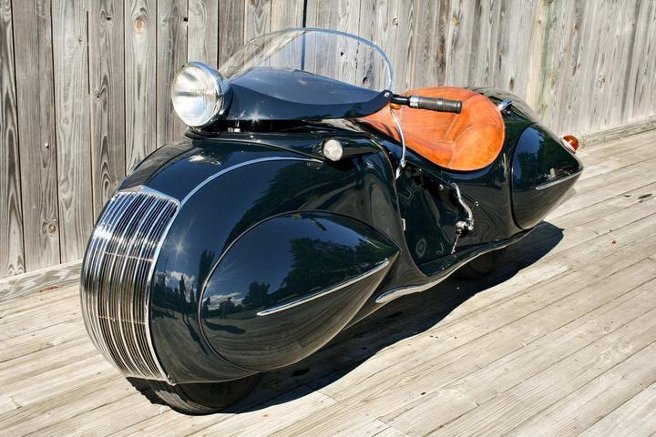 "Красивый винтажный мотоцикл ""Henderson 1930"", необычный дизайн ретро мотоцикла (2)"
