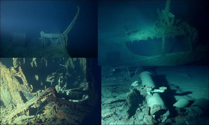 "Фотографии затонувшего ""Титаника"", фото на дне, до и после (10)"