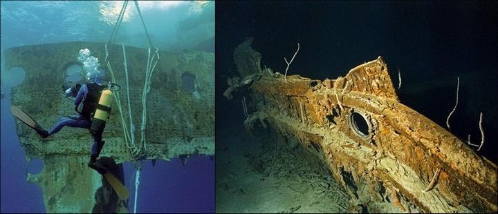 "Фотографии затонувшего ""Титаника"", фото на дне, до и после (13)"