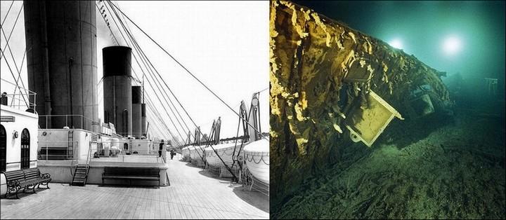 "Фотографии затонувшего ""Титаника"", фото на дне, до и после (15)"
