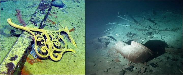 "Фотографии затонувшего ""Титаника"", фото на дне, до и после (16)"