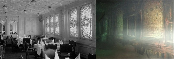 "Фотографии затонувшего ""Титаника"", фото на дне, до и после (18)"