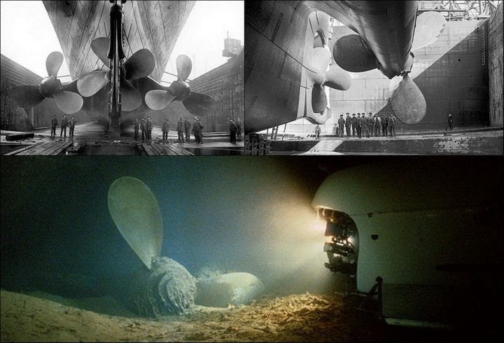 "Фотографии затонувшего ""Титаника"", фото на дне, до и после (22)"