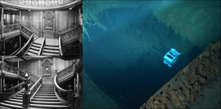 "Фотографии затонувшего ""Титаника"", фото на дне, до и после (24)"
